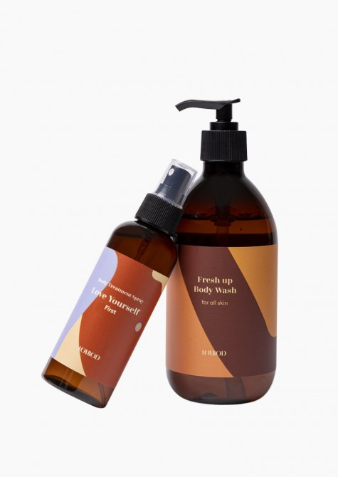Matches we love: Fresh up body wash + Body treatment spray First